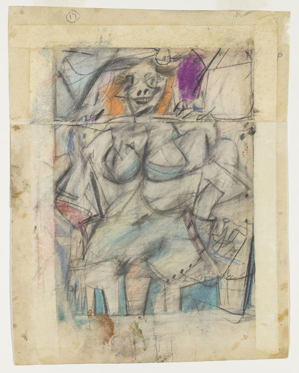 Willem de Kooning, Seated Woman, 1952