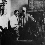 Dossena with his sister Amelia