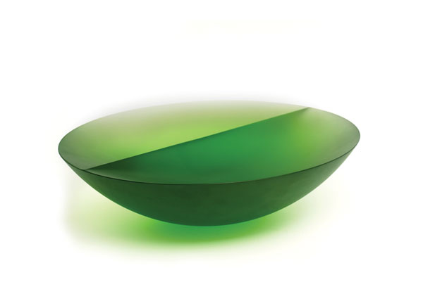 Green Bowl with Line