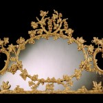 George II carved giltwood overmantel mirror, 1770