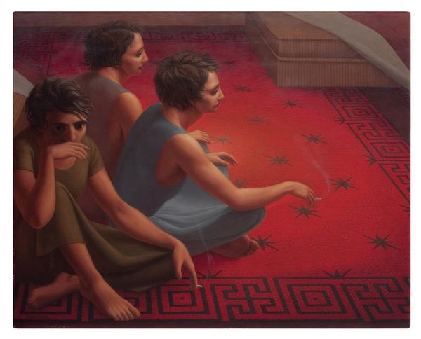 George Tooker, Red Carpet, 1953