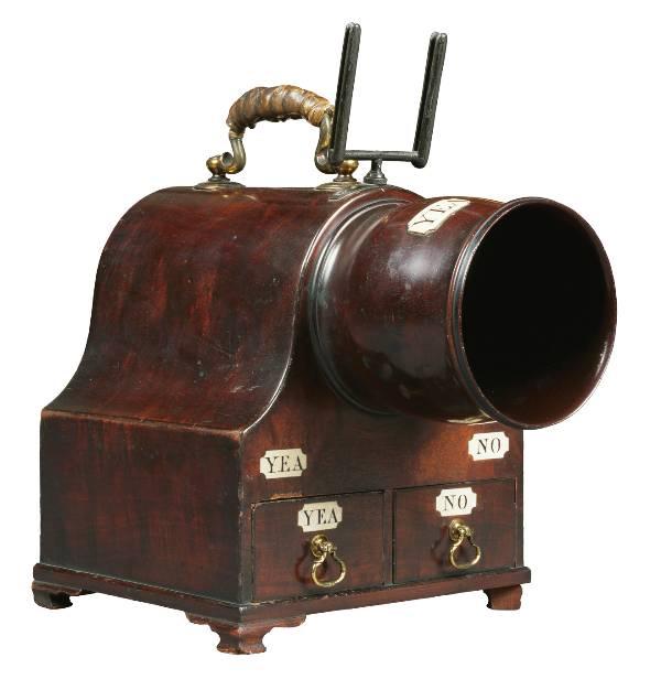 18th-century mahogany ballot box
