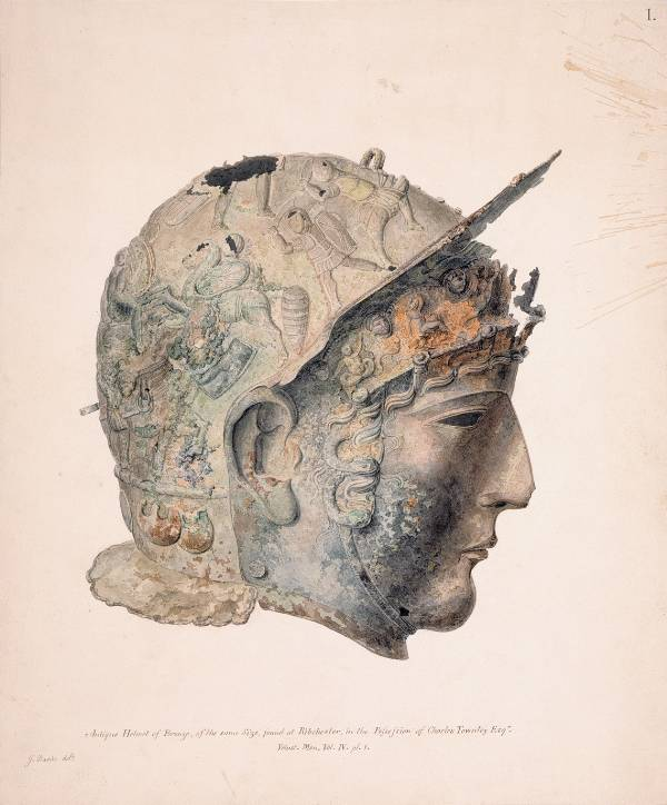Thomas Underwood, drawing of the Ribchester helmet, 1798