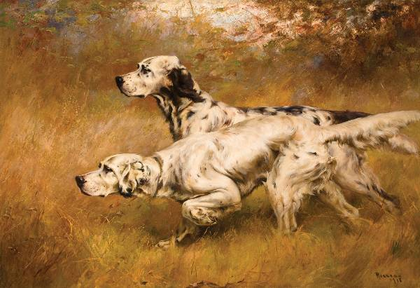 Percival Leonard Rosseau, English Setters on Point