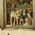 William Henry Hamilton Trood, Hounds in a Kennel, 1898