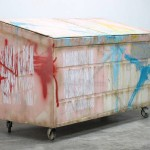 Dumpster (Flesh and Turquoise Swoosh), 2011.