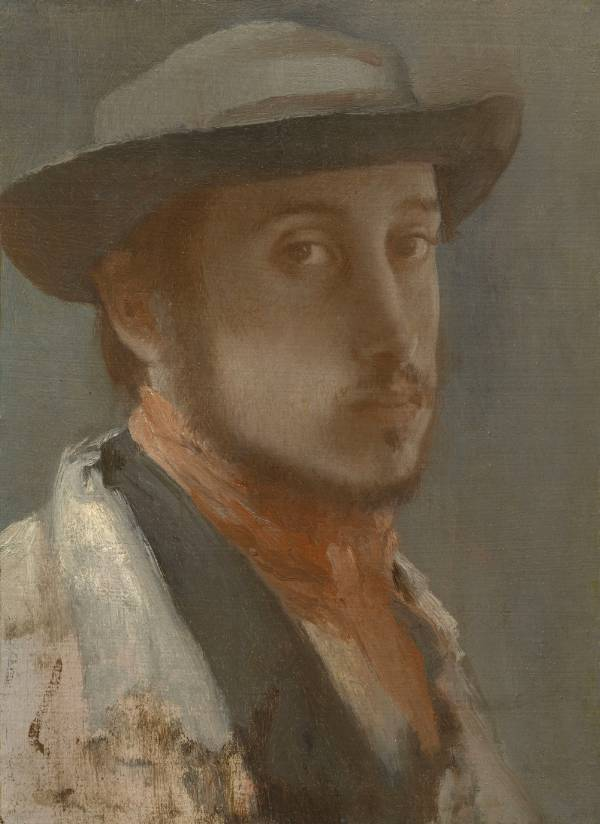 Edgar Degas, Self-Portrait, 1857-58
