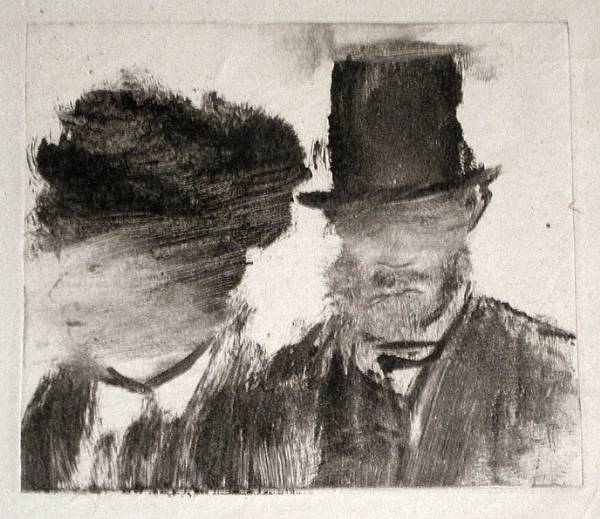 Edgar Degas, Heads of a Man and a Woman