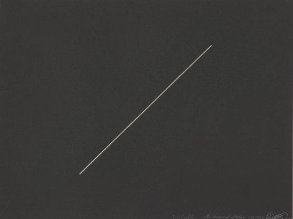 David Flavin, the diagonal of May 25, 1963, 1964