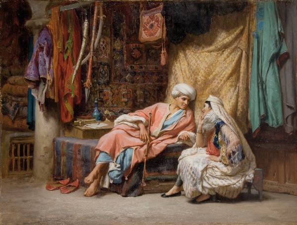 Frederick Arthur Bridgman, In the Souk, Tunis