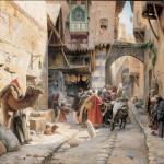Gustav Bauernfeind, A Street Scene, Damascus