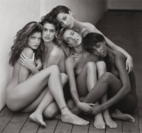 Herb Ritts, Stephanie, Cindy, Christy, Naomi, Tatjana