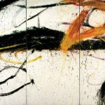 Norman Bluhm, Chariot, 1965, oil on canvas (triptych)