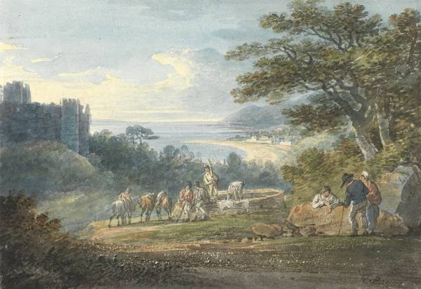 William Payne, Swansea Bay from Near Oystermouth Castle, 1826;