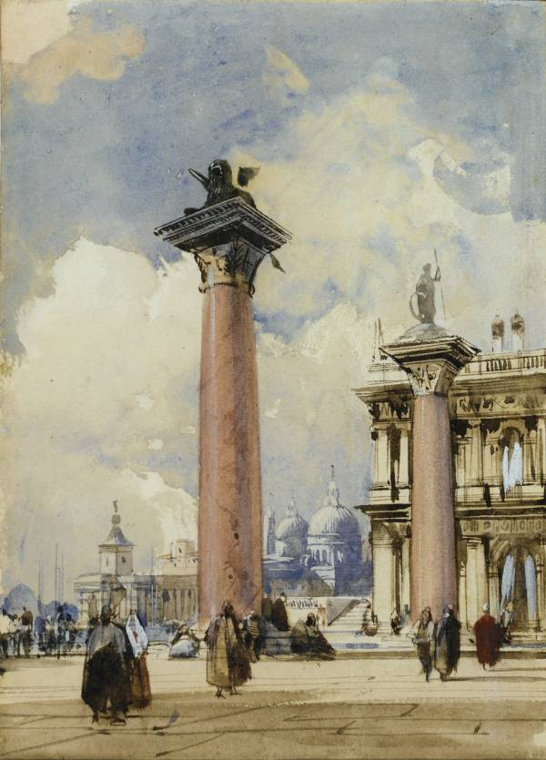 Richard Parkes Bonington, The Piazzetta, Venice;