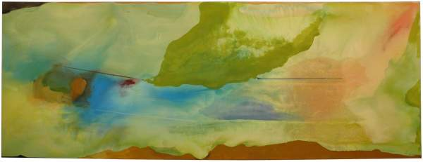 Helen Frankenthaler, Hint from Bassano, 1973, acrylic on canvas.