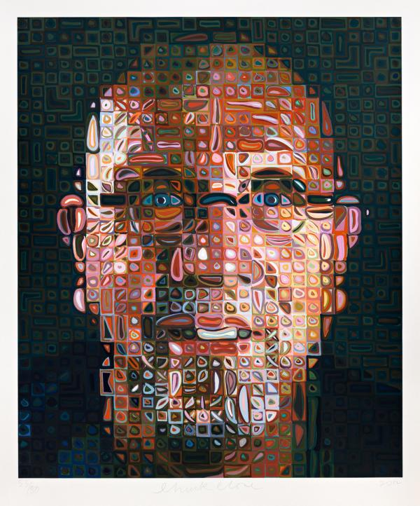 Chuck Close, Self-Portrait, 2012, silkscreen in 246 colors, edition of 80