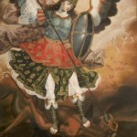 Saint Michael the Archangel, 18th century, artist/maker unknown, Peruvian, oil on canvas.
