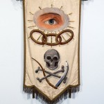 Skull-adorned banner, all from the collection of Bruce and Julie Webb, who are based in Waxahachie, Texas;