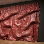 El Anatsui, Red Block, 2010. Aluminum and copper wire.