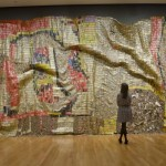 El Anatsui, Earths Skin, 2007. Aluminum and copper wire.