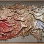 El Anatsui, Gravity and Grace, 2010. Aluminum and copper wire;