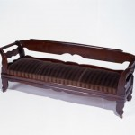 Thomas Day, Lounge, 1858, walnut with yellow pine (upholstery not original).