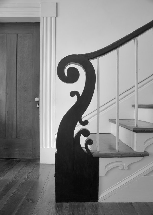 Thomas Day, Newel, 1855, Glass-Dameron House, North Carolina.
