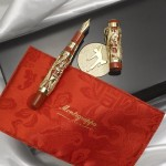 A Montegrappa Dragon 2010 Bruce Lee 18K Yellow Gold Limited Edition 88 Fountain Pen