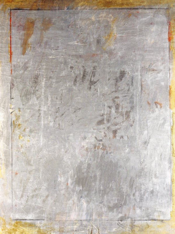 Senza titolo (Untitled), 1961, oil and enamel on canvas.