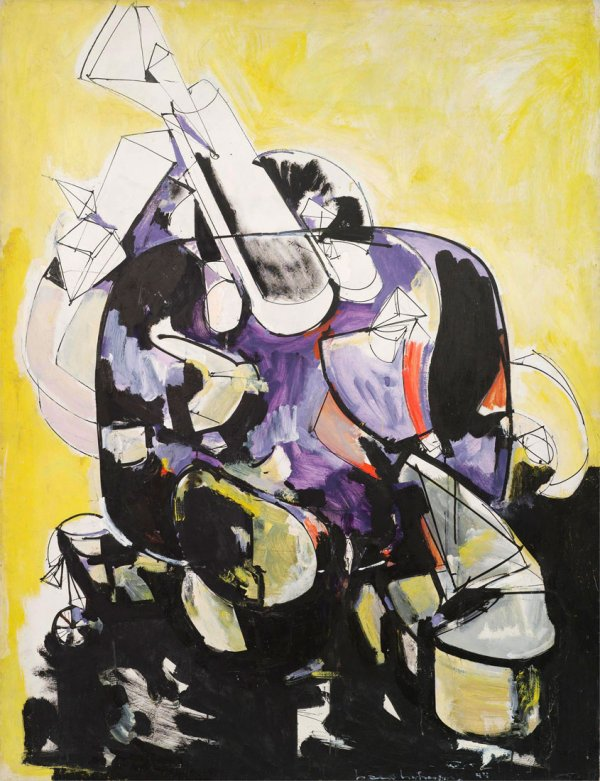 Hans Hofmann, Seated Woman IV, 1944, oil on panel, 61 x 46.8 inches;