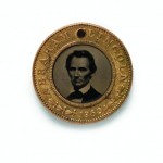 Abraham Lincoln medallion after an 1860 carte de visite by Mathew B. Brady