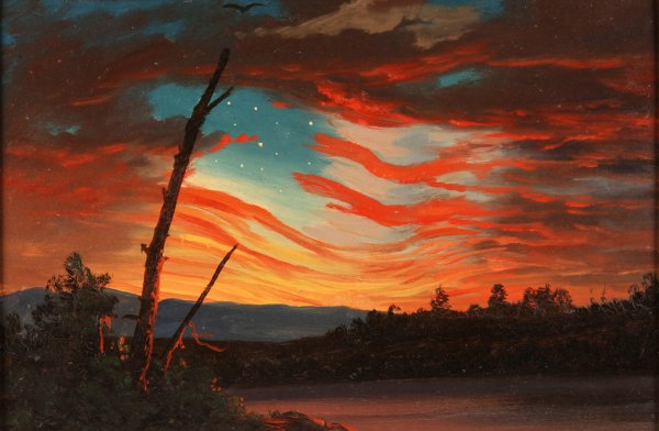 Frederic Edwin Church, Our Banner in the Sky, 1861, oil on paper