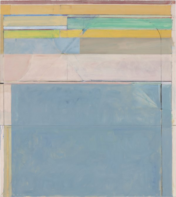 Richard Diebenkorn, Ocean Park #116, 1979, oil and charcoal on canvas