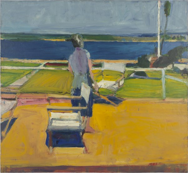 Richard Diebenkorn, Figure on a Porch, 1959, oil on canvas.