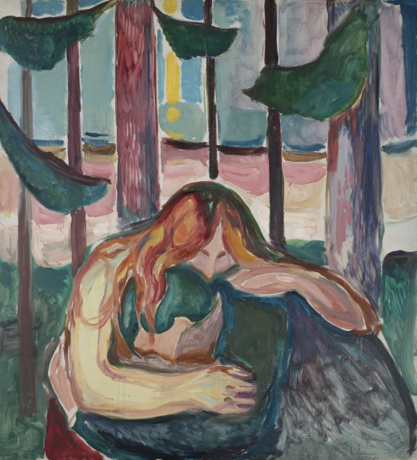 Edvard Munch, Vampire in the Forest, 1916-18