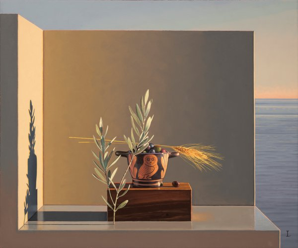David Ligare, Still Life with Olives and Wheat, 2012
