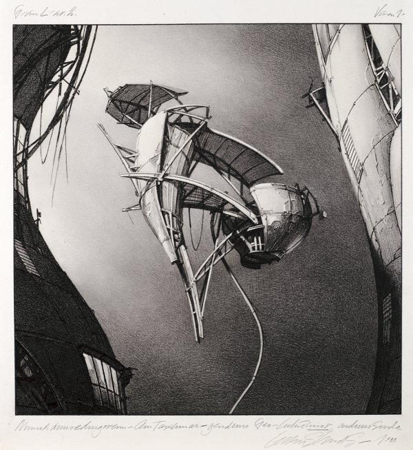 Lebbeus Woods, Photon Kite, from the series Centricity, 1988