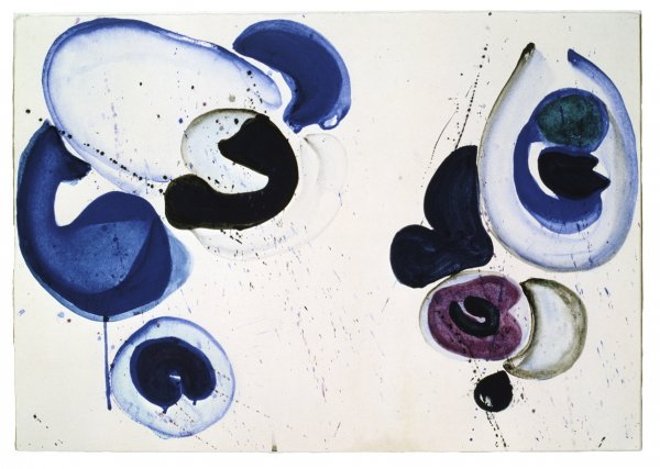 Sam Francis, Also Violet, 1961, gouache on paper