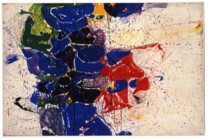 Sam Francis, Middle Blue #5, 1959-60, watercolor on paper