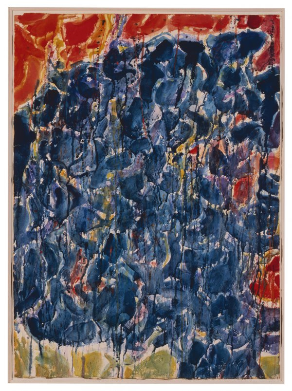 Sam Francis, Côte d'Azur, 1953, watercolor on paper