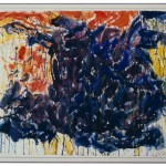 Sam Francis, Red, Blue and Yellow, 1953, Watercolor, gouache and ink on paper