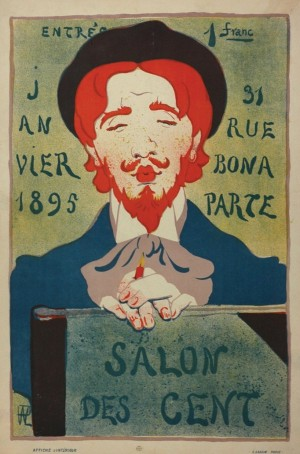 René Hermann-Paul, Salon des Cent, 1895, printed by Affiches  d'Intérieur/E. LAdam, Paris.
