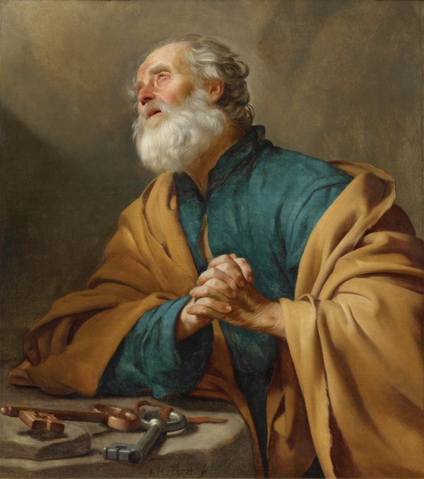 Gerrit van Honthorst, St. Peter Penitent, oil on canvas, 110.2 x 97.4 cm;