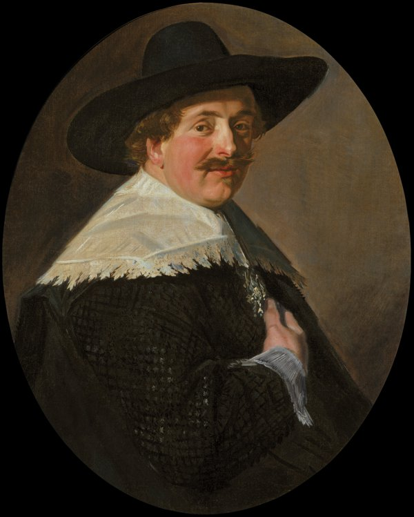 Frans Hals, Portrait of a Man, oil on canvas, 80 x 63.5 cm (oval).