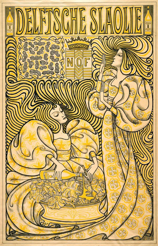 "Wynand Otto Jan Nieuwenkamp, Poster for the magazine ""Eigen Haard"" (Our Own Hearth), 1896;"