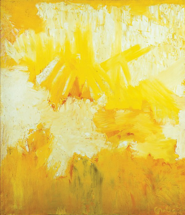 John Grillo, Untitled 19, 1962, oil on canvas, 50 x 63 ¾ inches