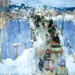 Leon Gaspard, SmolenskWinter (The Bridge at Smolensk), 1914, oil on canvas on board, 24 1/8 x 30 inches.