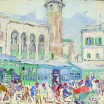 Leon Gaspard, Tunis, 1933, 13 ¼ x 16 ¼ inches.