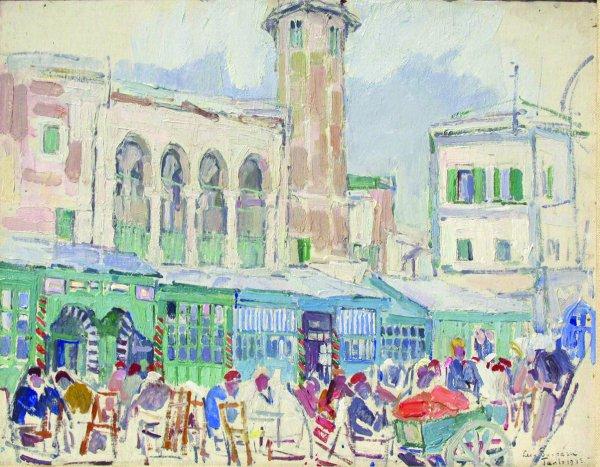 Leon Gaspard, Tunis, 1933, 13 ¼ x 16 ¼ inches.